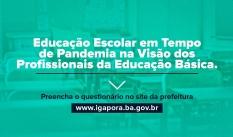 Educação Escolar em tempo de Pandemia na visão dos profissionais da Educação Básica.